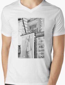 New York City Times Square 2000 Advertising Billboards Mens V-Neck T-Shirt