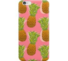 Pineapple Pop Art Pattern on Pink iPhone Case/Skin