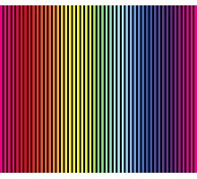 Rainbow (Color Gradient, Colour Gradient) Photographic Print