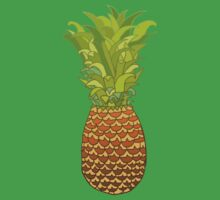 Pineapple Pop Art Pattern on Pink Kids Clothes