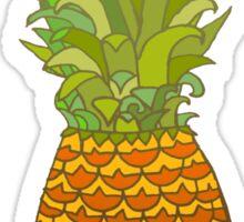 Pineapple Pop Art Pattern on Pink Sticker
