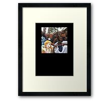 Anime gangster x black cartoon Framed Print
