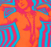 Miller Blues Band Psychedelic Poster Sticker