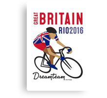 Olympics Great Britain Cycling Canvas Print