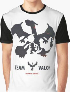 Pokemon Go Team Valor Charmander Evolution Graphic T-Shirt