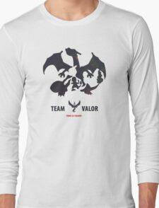 Pokemon Go Team Valor Charmander Evolution Long Sleeve T-Shirt