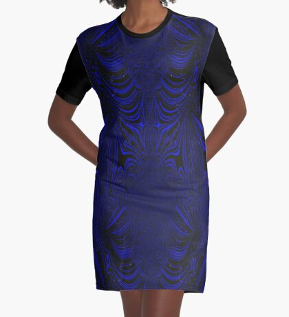 Blue Gimp Fractal design Graphic T-Shirt Dress