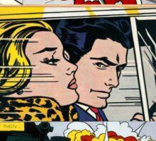 comic pop art design Sticker