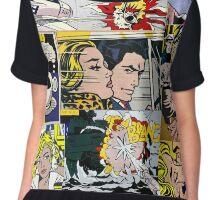comic pop art design Chiffon Top