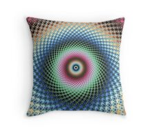 Psychedelic Rabbit Hole Throw Pillow
