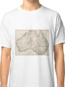 Australia and British Isles Size Comparison Map Classic T-Shirt