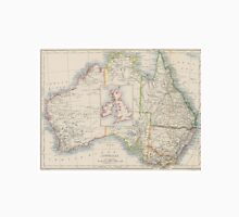 Australia and British Isles Size Comparison Map Unisex T-Shirt