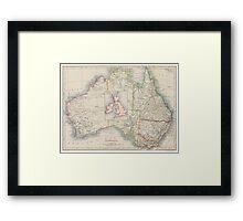Australia and British Isles Size Comparison Map Framed Print