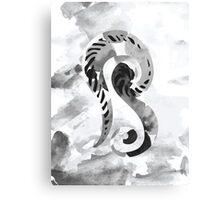 Letter B Monochrome Watercolour Alphabet  Canvas Print