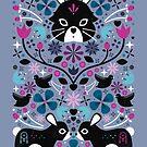 Kissing Rabbits by CarlyWatts