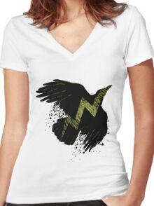 Thunder Bird Women's Fitted V-Neck T-Shirt