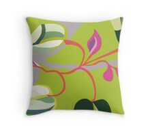 Spring Pink Flowers Throw Pillow