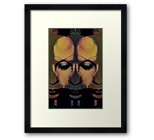 the many faces of sadness Framed Print