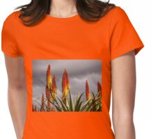 Aloe Vera Flowers Womens Fitted T-Shirt