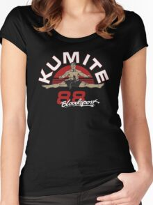 VAN DAMME - BLOODSPORT MOVIE Women's Fitted Scoop T-Shirt