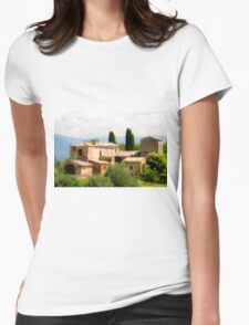 farmhouse in Tuscany, Italy Womens Fitted T-Shirt