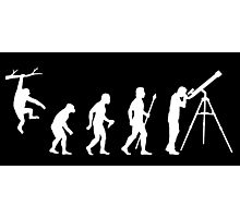 Funny Evolution Of Man Astronomy Photographic Print