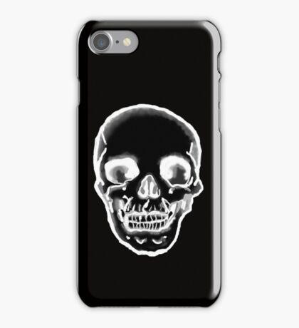 Totenkopf schwarz iPhone Case/Skin