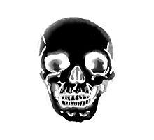 Totenkopf schwarz Photographic Print