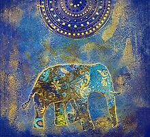 Blue Elephant by artsandsoul
