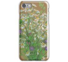 Meadow flowers, floral painting iPhone Case/Skin