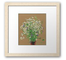 Meadow flowers, floral painting Framed Print