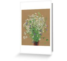 Meadow flowers, floral painting Greeting Card