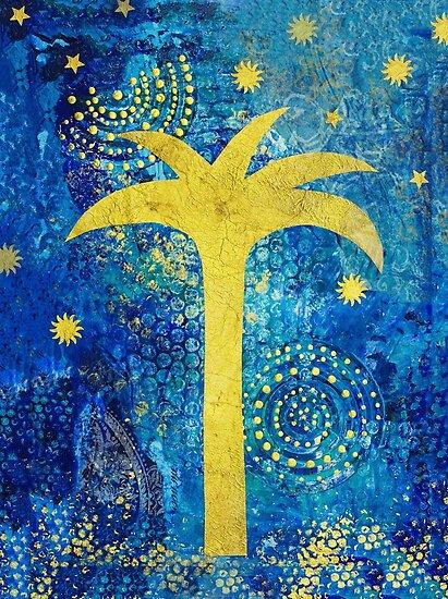 Blue Tropical night by artsandsoul