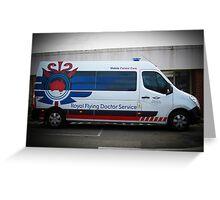 Royal Flying Doctor Ambulance Greeting Card