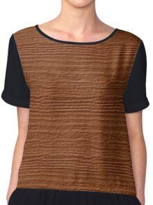 Adobe Wood Grain Texture Chiffon Top