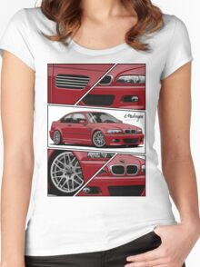 BMW E46 M3 (fragments) Women's Fitted Scoop T-Shirt
