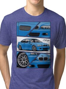 BMW E46 M3 (fragments) Tri-blend T-Shirt