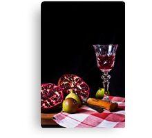 ~ still life with pomegranate ~ Canvas Print
