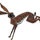 JUMPING HARE by Hares & Critters