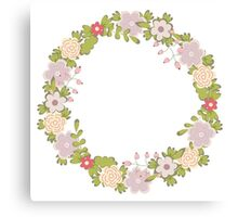 Floral frame 2 Canvas Print