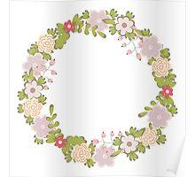 Floral frame 2 Poster