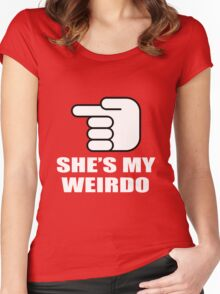 SHE'S MY WEIRDO Women's Fitted Scoop T-Shirt