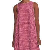 Bubblegum Wood Grain Texture A-Line Dress