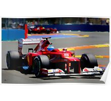 F1 Fernando Poster