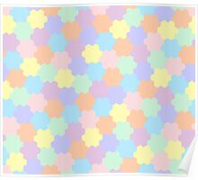 Geometric pattern in pastel colors Poster