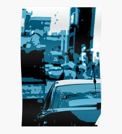 Busy Street Scene Poster