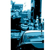 Busy Street Scene Photographic Print
