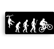 Funny Mountain Biking Evolution Canvas Print