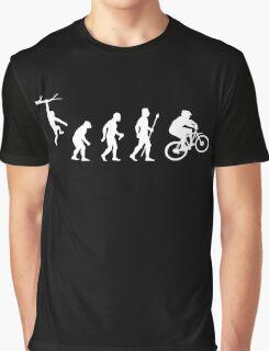 Funny Mountain Biking Evolution Graphic T-Shirt