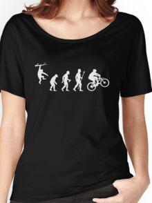 Funny Mountain Biking Evolution Women's Relaxed Fit T-Shirt